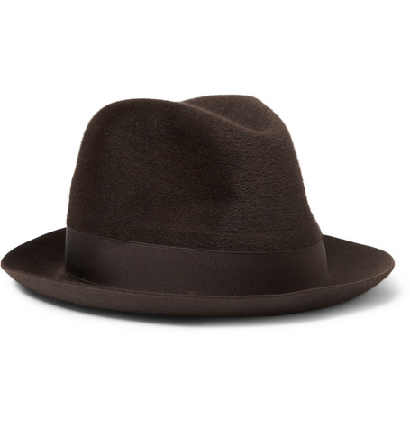 Borsalino Guanaco and Wool-Blend Fedora