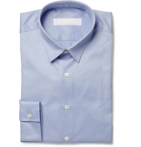 Spencer Hart Light Blue Cotton-Twill Shirt