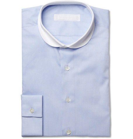 Spencer Hart Contrast-Collar Woven-Cotton Shirt