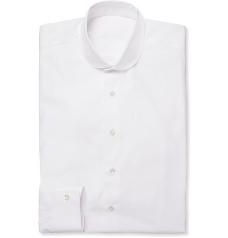 Spencer Hart White Round Collar Cotton Shirt