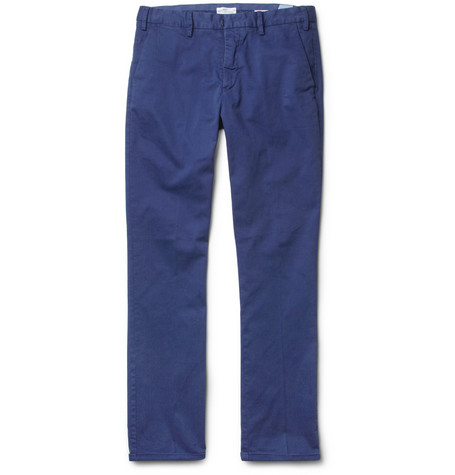 Gant Rugger Slim-Fit Stretch Cotton-Twill Trousers