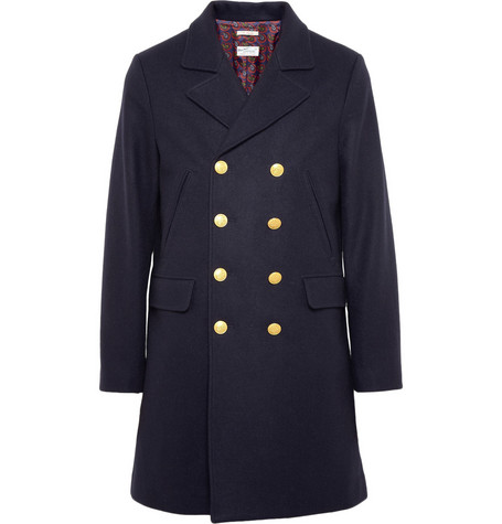 Gant Rugger The Doubler Double-Breasted Wool-Blend Coat