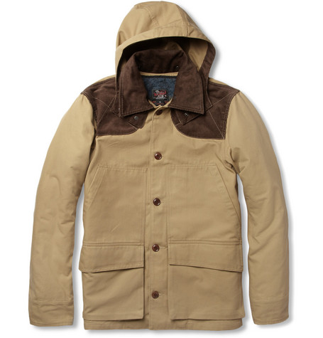 Woolrich Woolen Mills Cotton-Canvas Coat with Detachable Lining