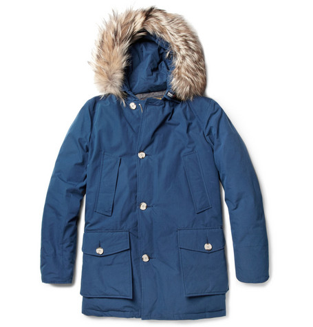 Woolrich Arctic Coyote-Trimmed Byrd-Cloth Coat