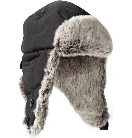 Woolrich Rabbit-Trimmed Trapper Hat