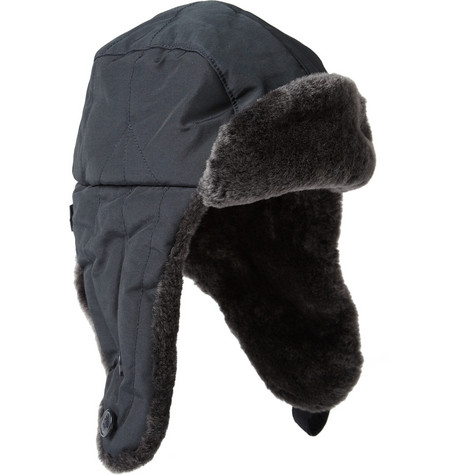Woolrich Shearling-Trimmed Trapper Hat