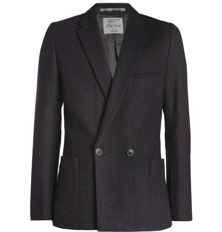 Red Ear Double-Breasted Wool and Cotton-Blend Blazer