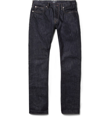 Red Ear Tapered-Leg Dry Denim Selvedge Jeans