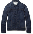 Red Ear - Slim-Fit Washed-Denim Jacket