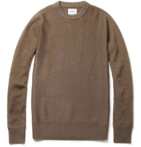 Red Ear Flame Wool-Blend Crew Neck Sweater