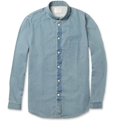 Red Ear Lightweight Washed-Denim Shirt