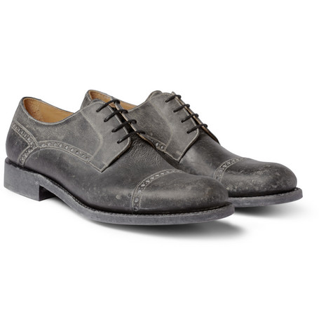O'Keeffe Ciaran Washed-Leather Brogues