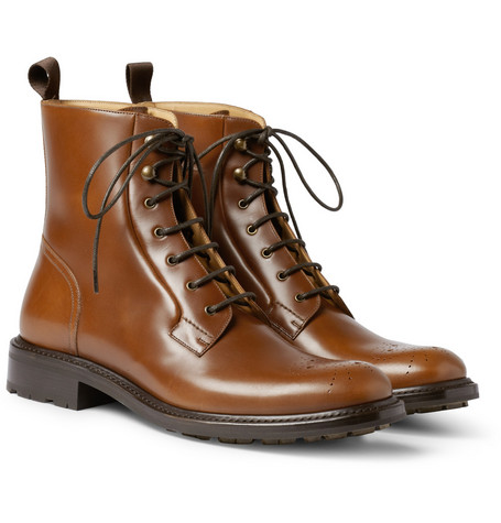 O'Keeffe Senan Leather Brogue Boots