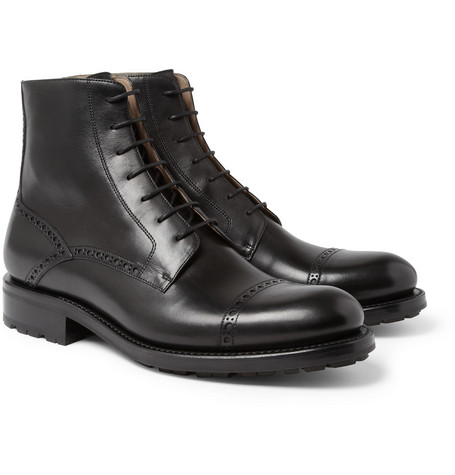 O'Keeffe Liam Leather Brogue Boots