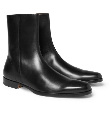 Mr. Hare Spector Zipped Leather Boots