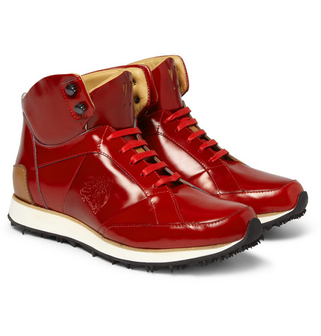 Mr. Hare Vonnegut Leather High Top Sneakers