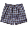Sunspel Plaid Cotton Boxer Shorts