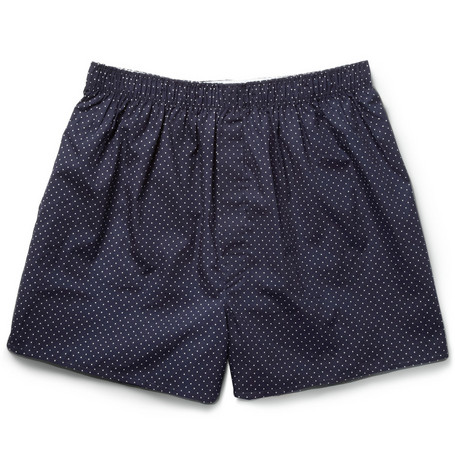 Sunspel Pin Dot Cotton Boxer Shorts