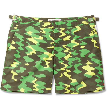 Orlebar Brown Nick Wooster Mid-Length Printed Swim Shorts