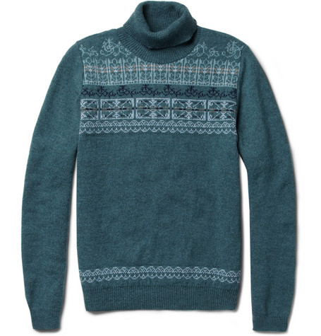 Monsieur Lacenaire Louis Fair Isle Wool Sweater