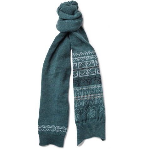 Monsieur Lacenaire Fair Isle Wool Scarf