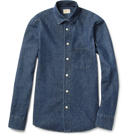 NN.07 Hans Washed-Denim Shirt