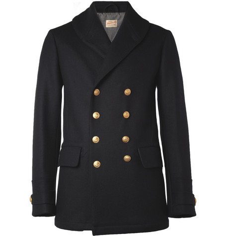 NN.07 Harbour Wool-Blend Peacoat