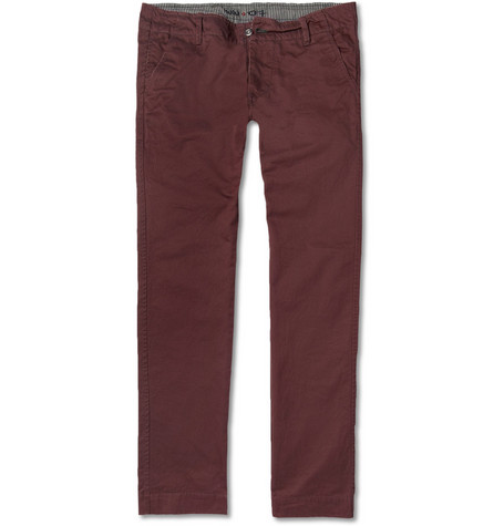 NN.07 Simon Straight-Leg Cotton-Twill Trousers