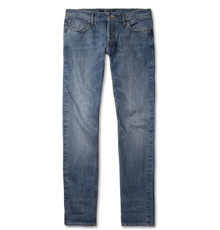 NN.07 James Regular-Fit Selvedge Washed-Denim Jeans