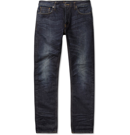 NN.07 James Slim-Fit Washed Selvedge Denim Jeans