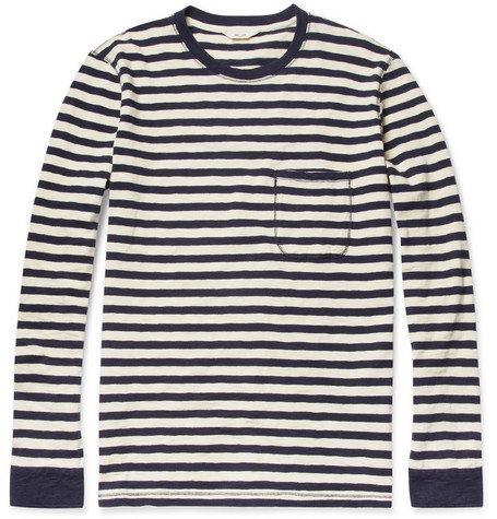 NN.07 Cain Long-Sleeved Striped Cotton T-Shirt
