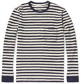 NN07 - Cain Long-Sleeved Striped Cotton T-Shirt