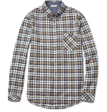 NN.07 Derek Check Brushed-Cotton Shirt