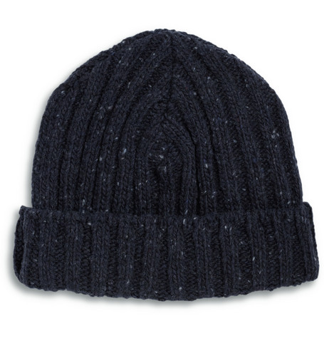 NN.07 Hochima Ribbed Wool-Blend Beanie Hat