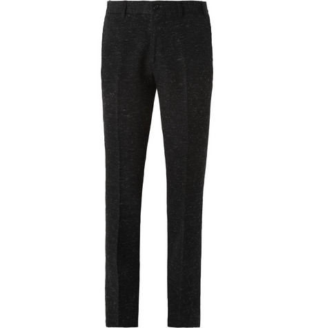 Our Legacy Midnight Flecked Slim-Fit Trousers