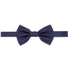 Lanvin Raw-Edged Silk-Grosgrain Bow Tie