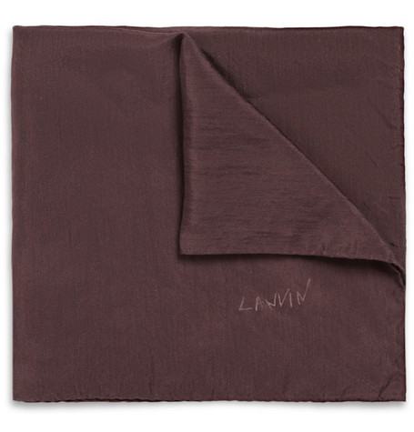 Lanvin Washed-Silk Pocket Square
