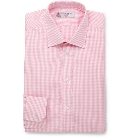 Turnbull & Asser Gingham Check Slim-Fit Cotton Shirt