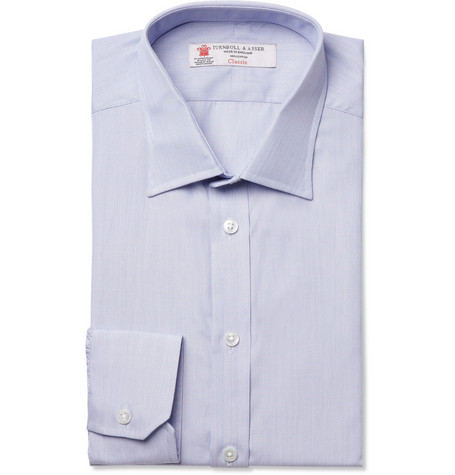 Turnbull & Asser Finely Striped Slim-Fit Cotton Shirt