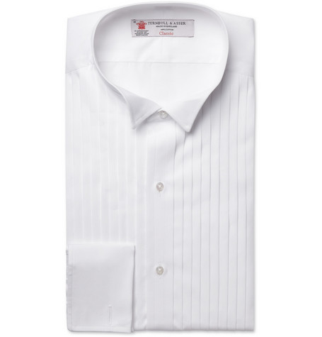 Turnbull & Asser White Wing Collar Cotton Shirt