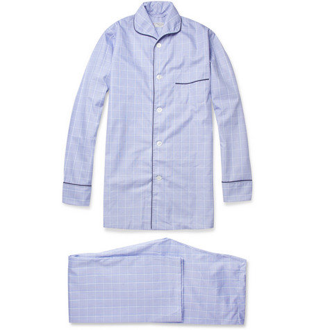 Turnbull & Asser Check Cotton Pyjamas