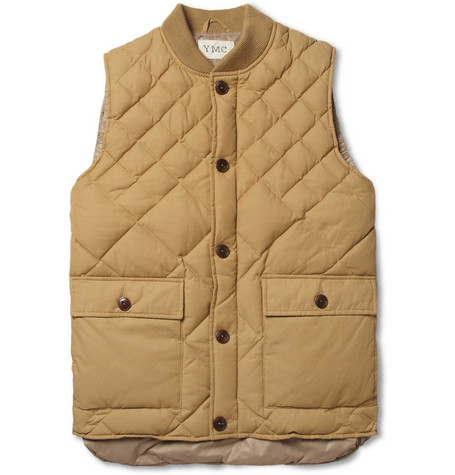 YMC Quilted Cotton-Blend Gilet