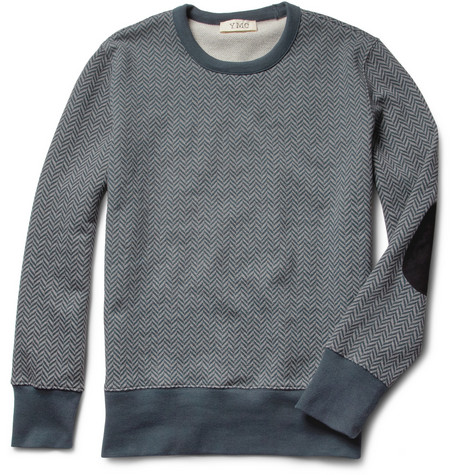YMC Herringbone-Print Cotton Sweatshirt