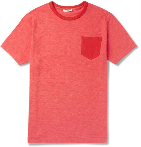 YMC Textured-Cotton T-Shirt