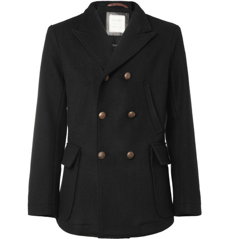 Billy Reid Double-Breasted Wool Peacoat