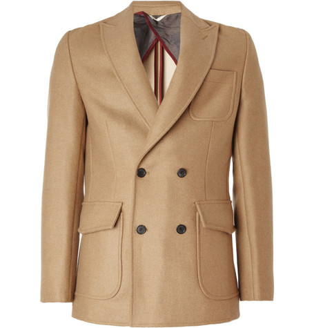 Billy Reid Patterson Slim-Fit Camel Hair Coat