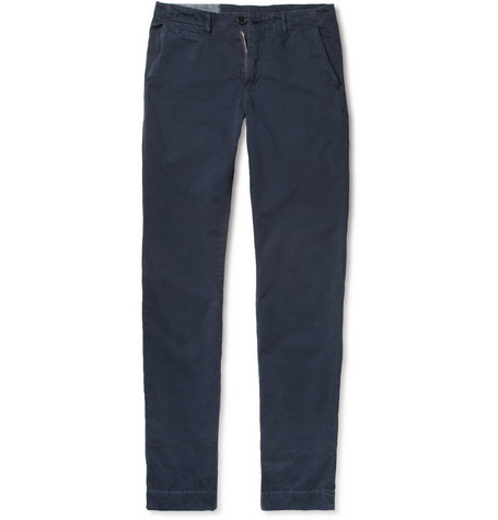 Billy Reid Jack Brushed-Cotton Chinos