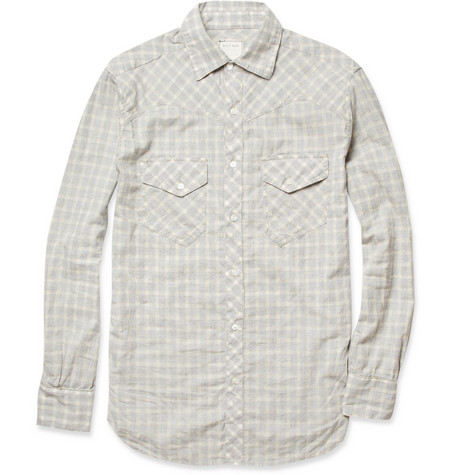 Billy Reid Samuel Plaid Cotton Shirt