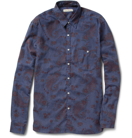 Oliver Spencer Paisley-Print Cotton-Blend Shirt