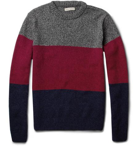 Oliver Spencer Panelled Wool-Blend Sweater